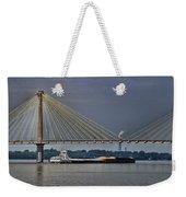 Clark Bridge And Barge  Weekender Tote Bag