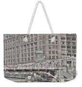 Clark Street Bridge Weekender Tote Bag