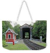 Clark's Bridge, Lincoln, N.h. Weekender Tote Bag
