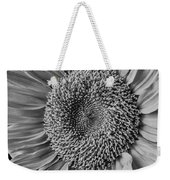 Classic Black And White Sunflower Weekender Tote Bag