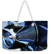 Classic Car Chrome Abstract Reflected Grill Weekender Tote Bag