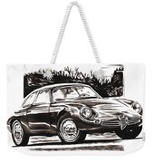 Classic Car In Classic Painting Weekender Tote Bag