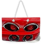 Classic Car Tail Lights Reflection Weekender Tote Bag