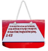 Classic Car With Text Weekender Tote Bag