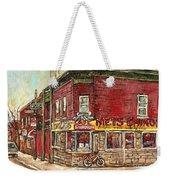 Classic Chinese Restaurant Montreal Memories Silver Dragon Canadian Paintings Carole Spandau         Weekender Tote Bag