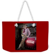 Classic Coca-cola Cowboy Weekender Tote Bag by James Sage