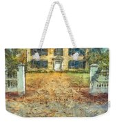 Classic Colonial Home In Autumn Pencil Weekender Tote Bag