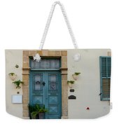 Classic House Entrance In Old Nicosia Weekender Tote Bag