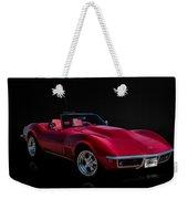 Classic Red Corvette Weekender Tote Bag