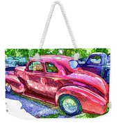 Classic Red Vintage Car Weekender Tote Bag