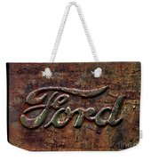 Classic Rusty Ford Pickup Truck Logo Detail Weekender Tote Bag