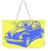 Classic Vw Beetle Tee Blue Ink Weekender Tote Bag