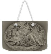 Classical Greek Woman Fresco Weekender Tote Bag by Bill Cannon