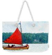 Classical Wooden Boat Tacksamheten Weekender Tote Bag