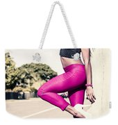 Classy Model In Elegant Fashion Outfit By Road Weekender Tote Bag