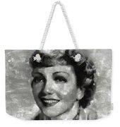 Claudette Colbert Vintage Hollywood Actress Weekender Tote Bag