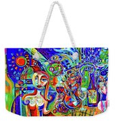 City At Night Music And Wine Abstract Weekender Tote Bag