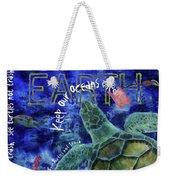 Clean Oceans Sea Turtle Art Weekender Tote Bag