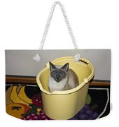 Cleaning Cat Weekender Tote Bag