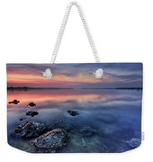 Clear Blue Morning Weekender Tote Bag