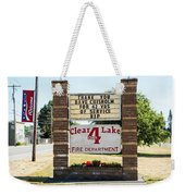 Clear Lake Fire Department Weekender Tote Bag