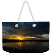 Clear Lake Sunset Weekender Tote Bag