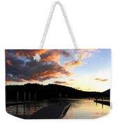 Clear Lake Sunset Weekender Tote Bag