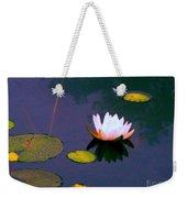 Clear Reflections Lotus Weekender Tote Bag