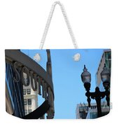 Clear Street Lamp Downtown Chicago Weekender Tote Bag