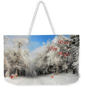 Clearing Skies Christmas Card Weekender Tote Bag