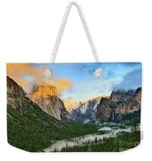 Clearing Storm - View Of Yosemite National Park From Tunnel View. Weekender Tote Bag