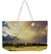 Clearing Summer Storm Grand Tetons National Park Weekender Tote Bag