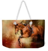 Clearing The Jump Equestrian Art Weekender Tote Bag