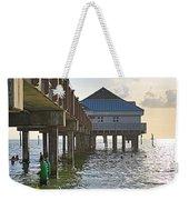 Clearwater Beach Pier Weekender Tote Bag