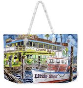 Clearwater Florida Boat Painting Weekender Tote Bag