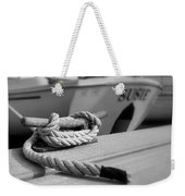Cleat Hitch Boat Art Weekender Tote Bag