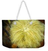 Clematis Flower Head In Fall Weekender Tote Bag