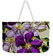 Purple Clematis Flower Vines Weekender Tote Bag