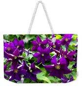 Clematis Flowers Weekender Tote Bag by Corey Ford