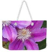 Clematis Flowers Weekender Tote Bag