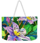 Clematis For Elsie Weekender Tote Bag