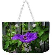 Clematis In Purple Weekender Tote Bag