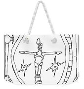Cleo Over Valley In Paradise Weekender Tote Bag