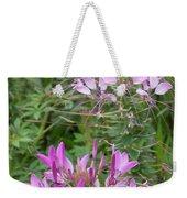 Cleome Sparkler Lavender Weekender Tote Bag