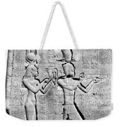 Cleopatra And Caesarion, Temple Weekender Tote Bag