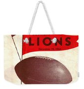 Cleveland Browns Vintage Program 4 Weekender Tote Bag