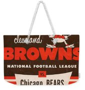 Cleveland Browns Vintage Program 5 Weekender Tote Bag