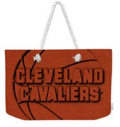 Cleveland Cavaliers Leather Art Weekender Tote Bag