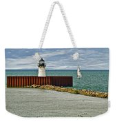Cleveland Harbor Small Lighthouse Weekender Tote Bag