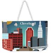 Cleveland Ohio Horizontal Skyline Weekender Tote Bag